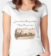 """You Are Braver Than You Believe"" (version 1) Women's Fitted Scoop T-Shirt"