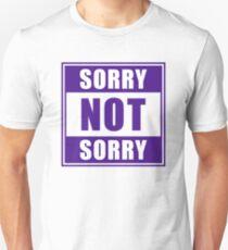 Es tut uns leid, nicht leid, Emoji JoyPixels Funny Girls Purple Slim Fit T-Shirt