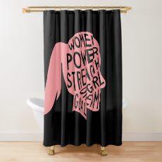 Women Power Emoji JoyPixels Dream Girl Goal Rose Gold Shower Curtain