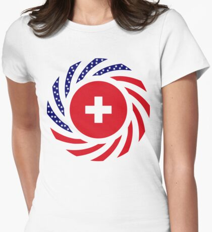 Swiss American Multinational Patriot Flag Series T-Shirt