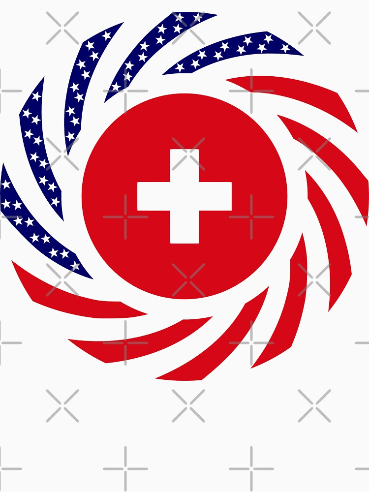 Swiss American Multinational Patriot Flag Series by carbonfibreme