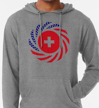 Swiss American Multinational Patriot Flag Series Lightweight Hoodie