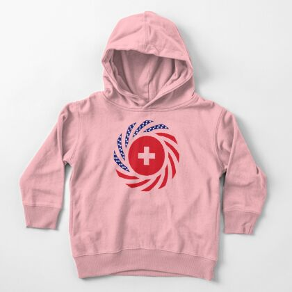 Swiss American Multinational Patriot Flag Series Toddler Pullover Hoodie