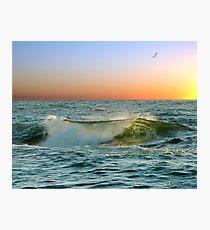 Sunset Ocean Wave Photographic Print