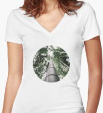 Round Bamboo Women's Fitted V-Neck T-Shirt