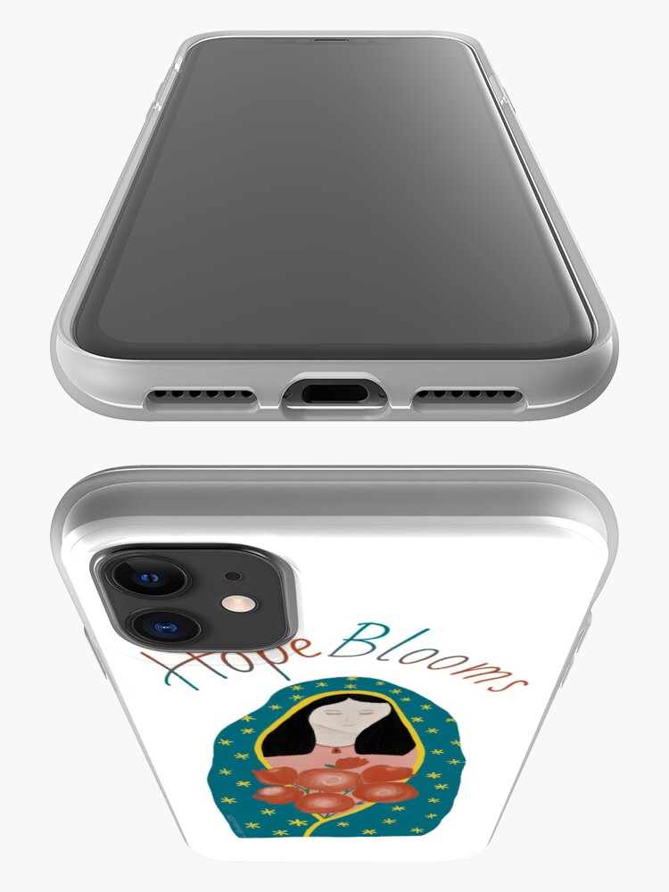 Alternate view of Hope Blooms, Our Lady of Guadalupe iPhone Case & Cover