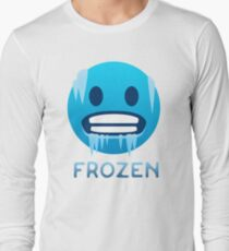 Frozen, Cold-Face emoji Long Sleeve T-Shirt