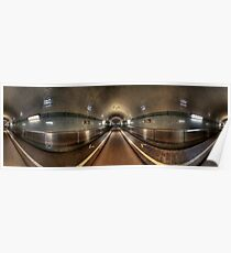 Elbe Tunnel - 360 HDR Panoramic Poster
