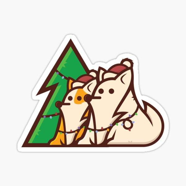 Christmas Puppies Sticker