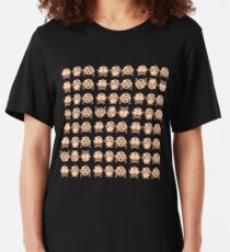 No Evil Monkeys Emoji JoyPixels Sweet Monke Slim Fit T-Shirt