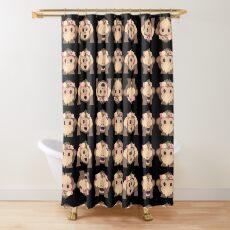 No Evil Monkeys Emoji JoyPixels Sweet Monke Shower Curtain