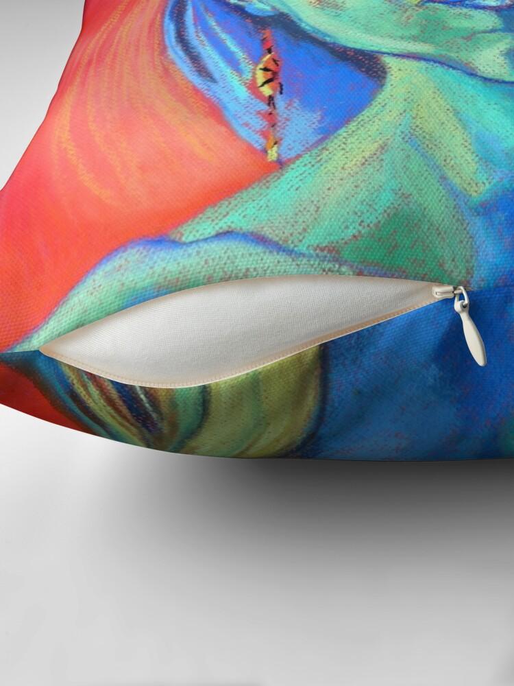 Alternate view of Blue Woman (self portrait) Throw Pillow