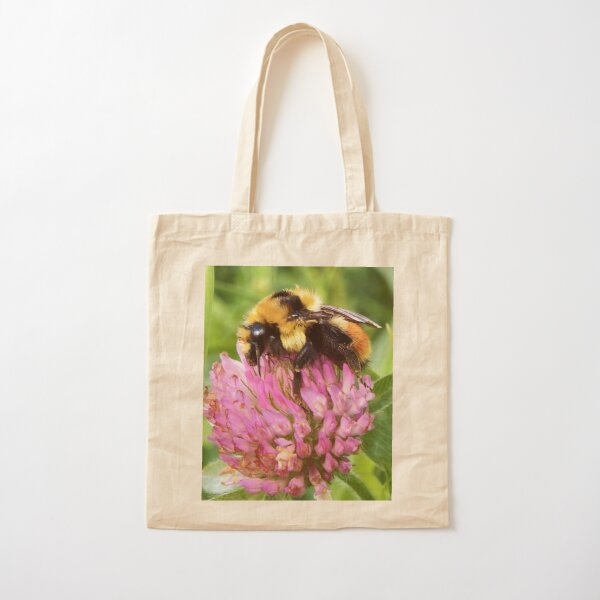 Clover Bumblebee Cotton Tote Bag