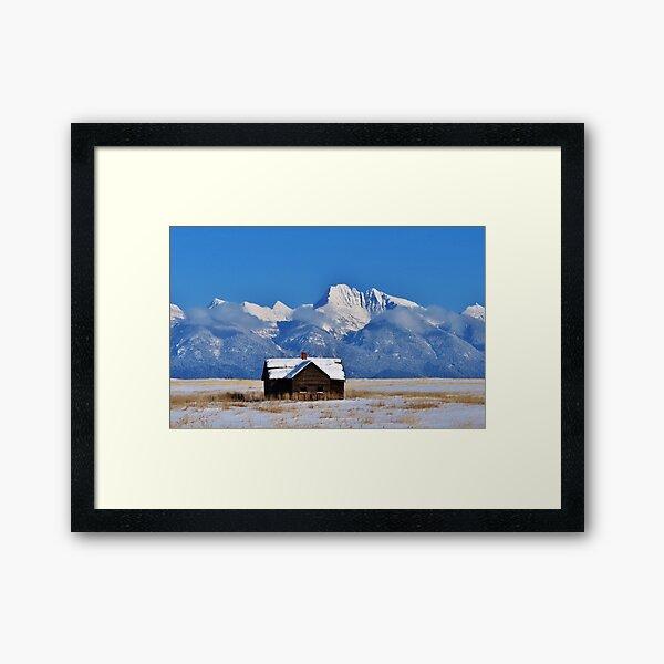 Sunny Winter Memory Framed Art Print