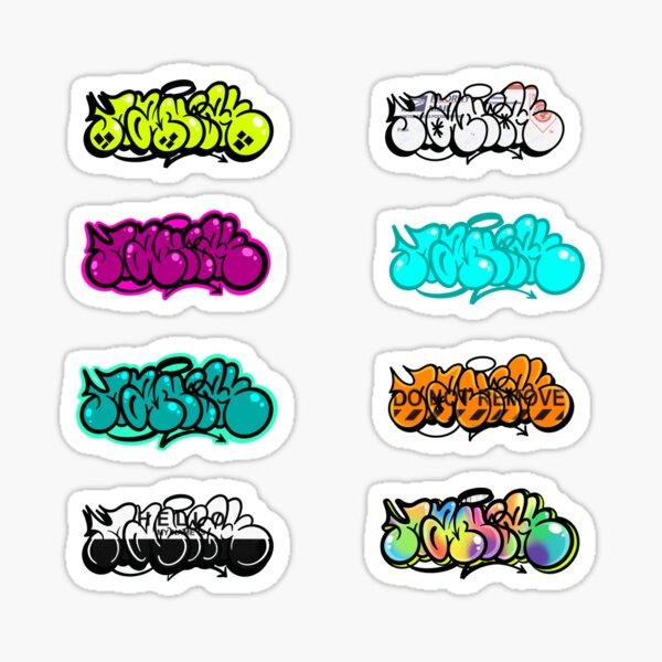 Feuille d'autocollants Throwie Maniak Graffiti Sticker