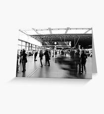 Daily Grind, St Pancras International Station, London Greeting Card