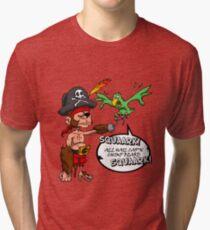 All Hail Cap'n Chimp Beard!  Tri-blend T-Shirt