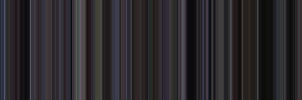 Moviebarcode: Donnie Darko (2001) [Simplified Colors] by moviebarcode