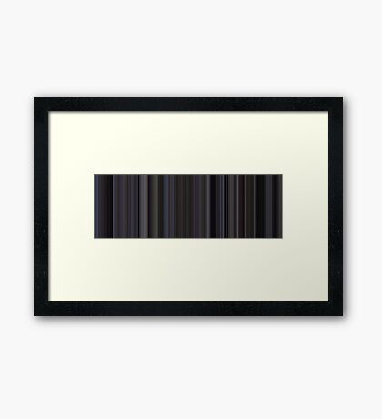 Moviebarcode: Donnie Darko (2001) [Simplified Colors] Framed Print