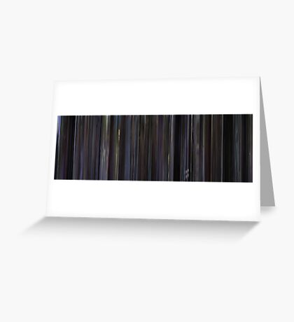 Moviebarcode: Donnie Darko (2001) Greeting Card