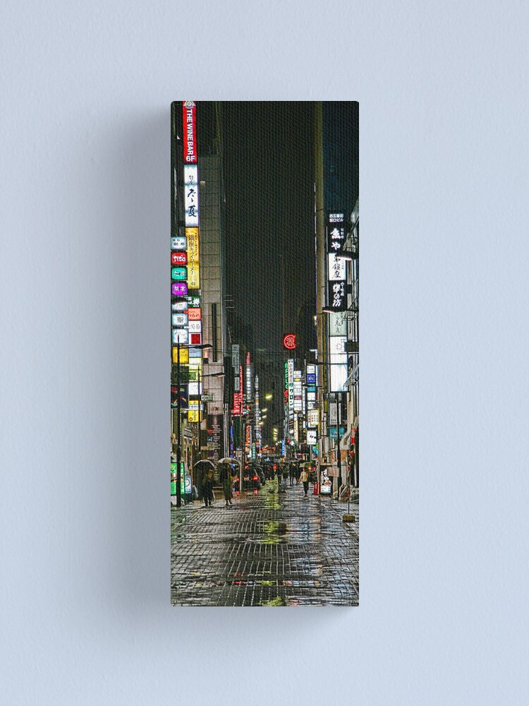 Alternate view of Tokyo Vertical Canvas Print
