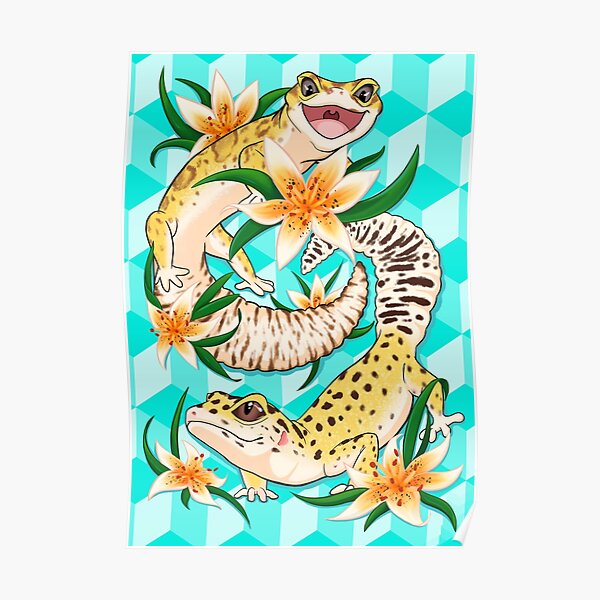 Leopard Geckos are a Fun Time Poster