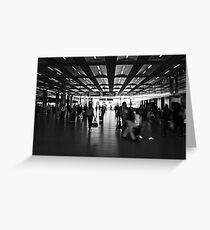 Commute, St Pancras International Station, London Greeting Card