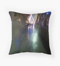After the rain-Paris sidewalk, early evening Throw Pillow