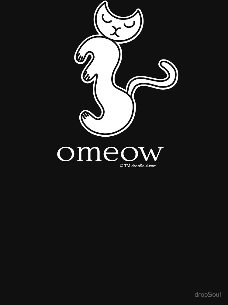 Om Cat Omeow Yoga T-shirt by dropSoul