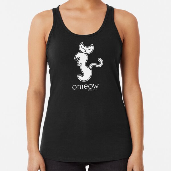 Om Cat Omeow Yoga T-shirt Racerback Tank Top
