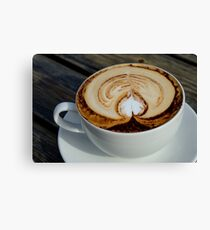 Cappuccino waiting on the Table Canvas Print