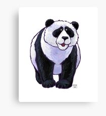 Animal Parade Panda Bear Silhouette Canvas Print