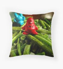 French beans... Throw Pillow