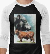 Angus Cattle Men's Baseball ¾ T-Shirt