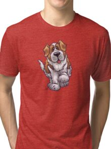 Animal Parade St. Bernard Silhouette Tri-blend T-Shirt