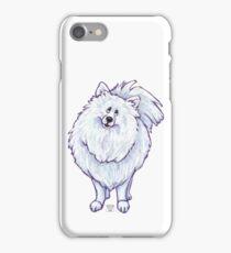 Animal Parade White Pomeranian Silhouette iPhone Case/Skin