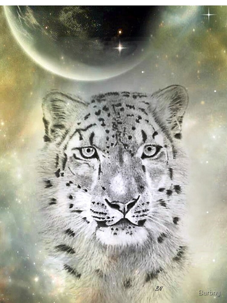 Out of this World Snow Leopard by Barbny