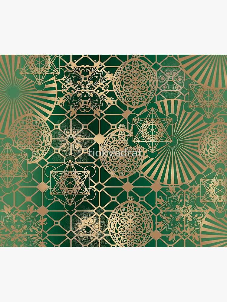 Gold Mandalas and Lace on Eucalyptus by tiokvadrat