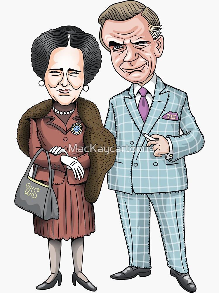 The Duke and Duchess of Windsor by MacKaycartoons