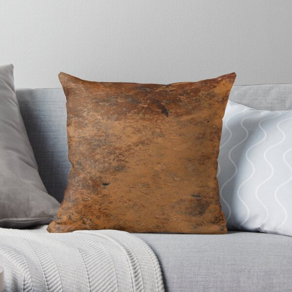 AGED LEATHER Throw Pillow