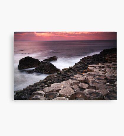 Giant's Causeway - Sunset Canvas Print