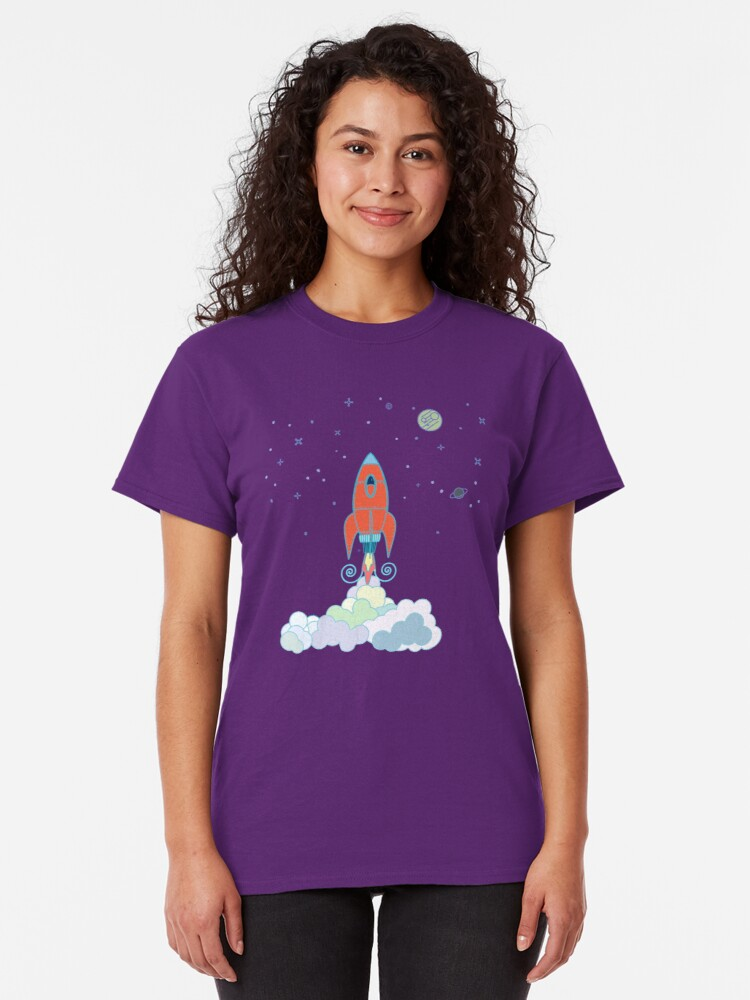 Alternate view of Rocket Launch Classic T-Shirt
