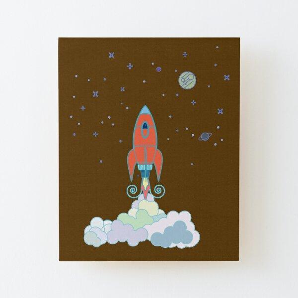 Rocket Launch Wood Mounted Print