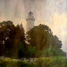 One of many beautiful lighthouses in Door County, WI ©  by Dawn Becker