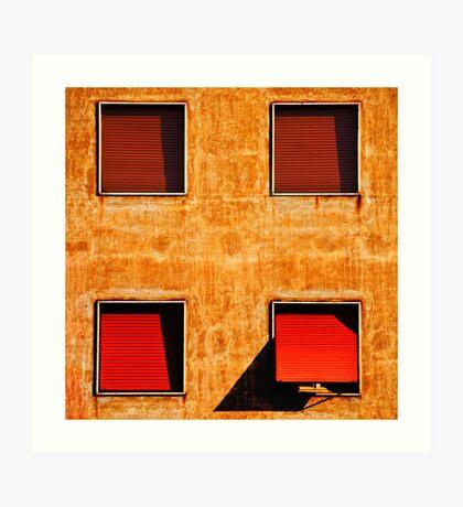 Four windows Art Print