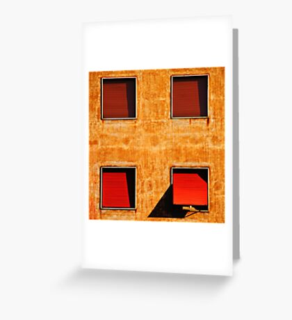 Four windows Greeting Card