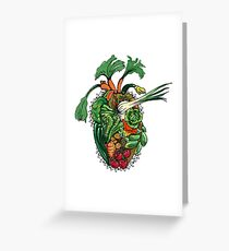 Vegetables are good for your heart Greeting Card