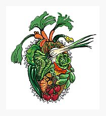 Vegetables are good for your heart Photographic Print