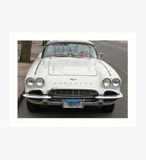 Old 1962 Corvette Front Art Print
