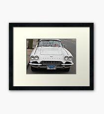 Old 1962 Corvette Front Framed Print